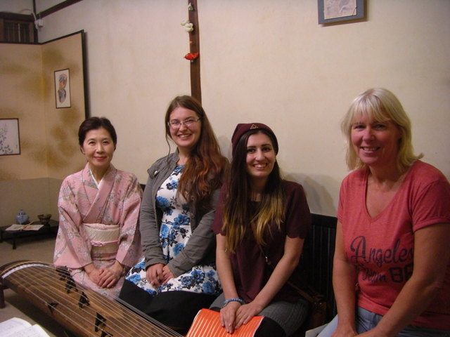 Koto lesson at a traditional Kyoto-style house in Nijyo