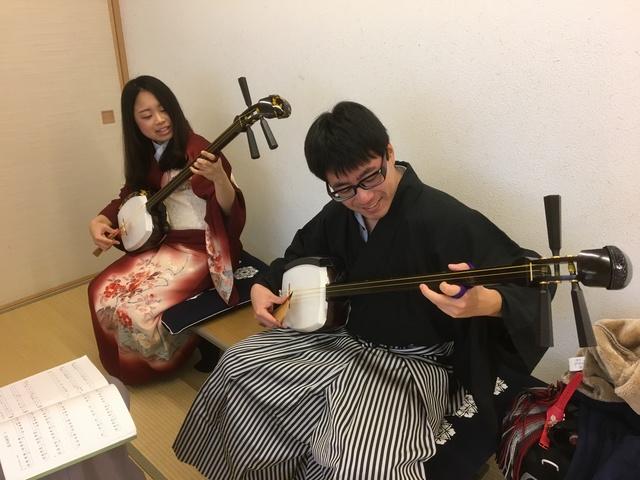 【ペア特典付】2人で奏でる三味線は特別な音色?津軽三味線が気軽に学べる体験!