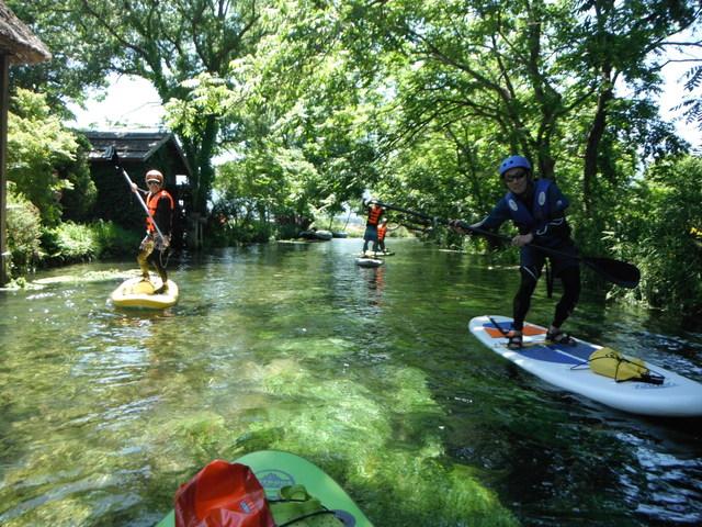 【長野/SUP体験】湧き水の清流で川下り‐スタンドアップパドル