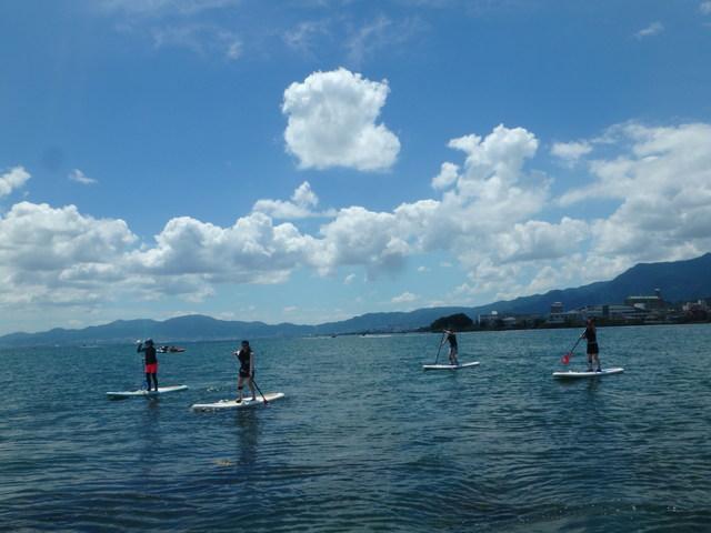 【琵琶湖/SUP体験】初心者もOK!日本一の琵琶湖で水上散歩☆